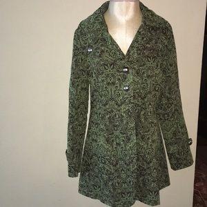 Blazer Jacket -beautiful tapestry fabric -size M